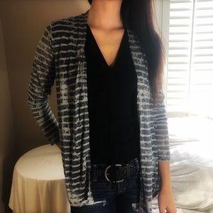2 LEFT XS & S Fall Gray & Black Striped Cardigan